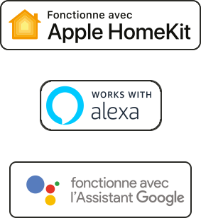 badges HomeKit, Alexa, google